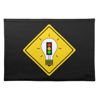 Moody Stoplight Lightbulb Ahead Placemat