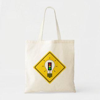 Moody Stoplight Lightbulb Ahead Tote Bag