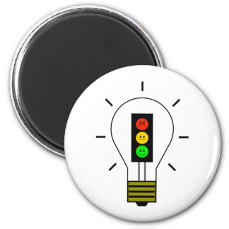 Moody Stoplight Lightbulb Magnet