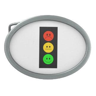 Moody Stoplight Oval Belt Buckle
