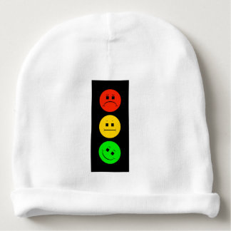 Moody Stoplight Tilted Green Baby Beanie