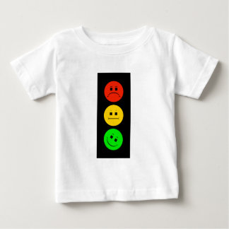 Moody Stoplight Tilted Green Baby T-Shirt