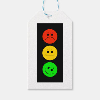 Moody Stoplight Tilted Green Gift Tags