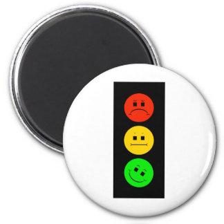Moody Stoplight Tilted Green Magnet