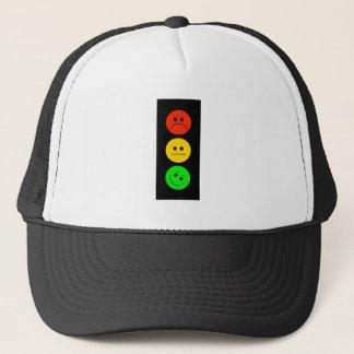 Moody Stoplight Tilted Green Trucker Hat