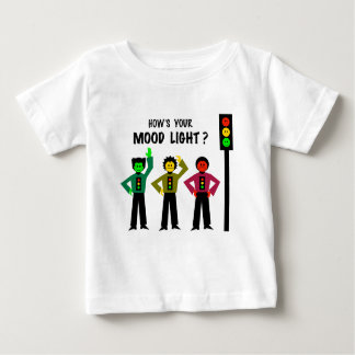 Moody Stoplight Trio How's Your Mood Light Baby T-Shirt