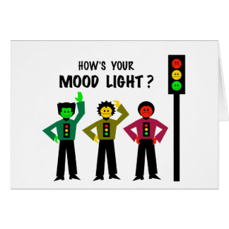 Moody Stoplight Trio How's Your Mood Light Card