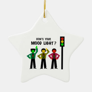 Moody Stoplight Trio How's Your Mood Light Ceramic Ornament