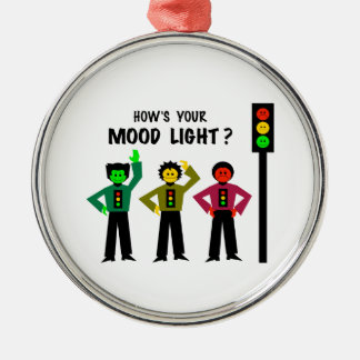 Moody Stoplight Trio How's Your Mood Light Metal Ornament