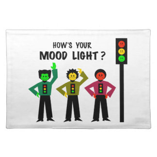 Moody Stoplight Trio How's Your Mood Light Placemat