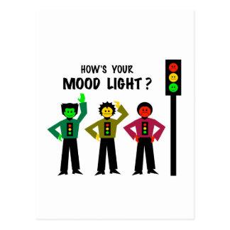Moody Stoplight Trio How's Your Mood Light Postcard