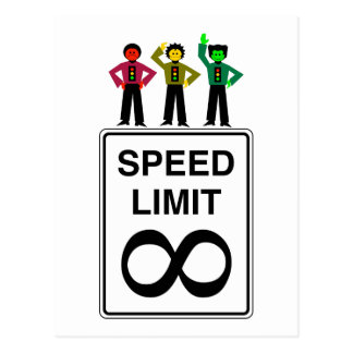 Moody Stoplight Trio Infinite Speed Limit Postcard
