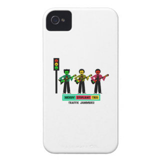 Moody Stoplight Trio Mustachio Guitar Players 2 iPhone 4 Cover