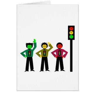 Moody Stoplight Trio Next to Moody Stoplight Card