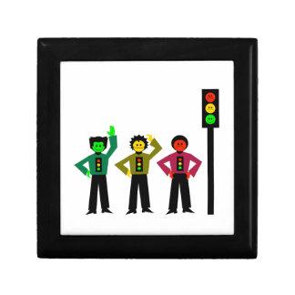 Moody Stoplight Trio Next to Moody Stoplight Gift Box