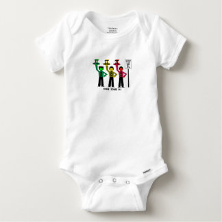 Moody Stoplight Trio Next To Speed Lim Pi Sign w/C Baby Onesie