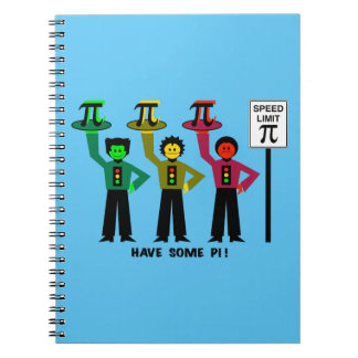Moody Stoplight Trio Next To Speed Lim Pi Sign w/C Notebook