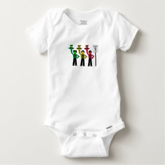 Moody Stoplight Trio Next to Speed Limit Pi Sign Baby Onesie