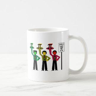 Moody Stoplight Trio Next to Speed Limit Pi Sign Coffee Mug