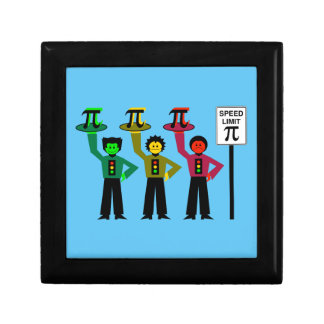 Moody Stoplight Trio Next to Speed Limit Pi Sign Gift Box