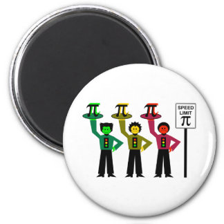 Moody Stoplight Trio Next to Speed Limit Pi Sign Magnet