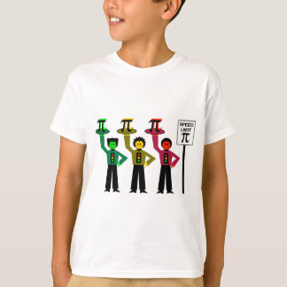 Moody Stoplight Trio Next to Speed Limit Pi Sign T-Shirt