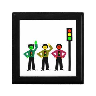 Moody Stoplight Trio Next to Stoplight Gift Box