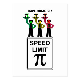 Moody Stoplight Trio On Speed Lim Pi Sign wCaption Postcard
