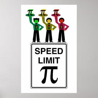 Moody Stoplight Trio On Speed Limit Pi Sign