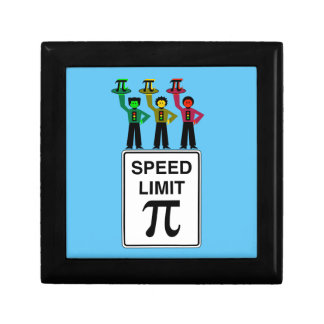 Moody Stoplight Trio On Speed Limit Pi Sign Gift Box