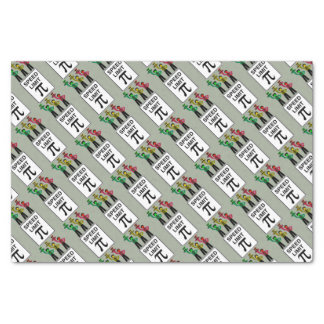 Moody Stoplight Trio On Speed Limit Pi Sign Tissue Paper