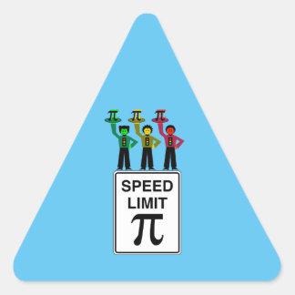 Moody Stoplight Trio On Speed Limit Pi Sign Triangle Sticker