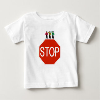 Moody Stoplight Trio On Stop Sign Baby T-Shirt