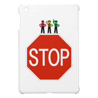 Moody Stoplight Trio On Stop Sign iPad Mini Cases