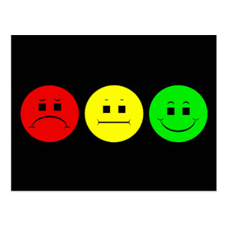 Moody Stoplight Trio Postcard
