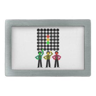 Moody Stoplight Trio w Moody Stoplight Black Dots Belt Buckle