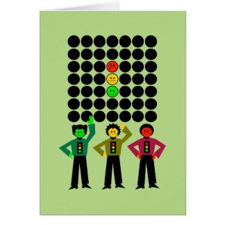 Moody Stoplight Trio w Moody Stoplight Black Dots Card