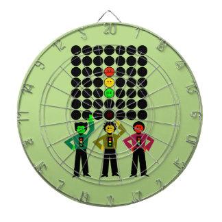 Moody Stoplight Trio w Moody Stoplight Black Dots Dartboard