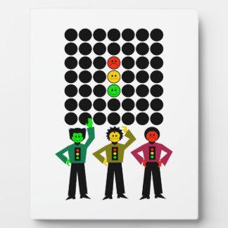 Moody Stoplight Trio w Moody Stoplight Black Dots Plaque