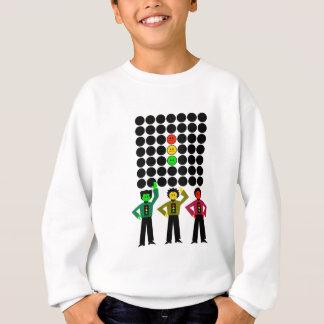 Moody Stoplight Trio w Moody Stoplight Black Dots Sweatshirt