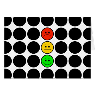 Moody Stoplight w Black Dots Card