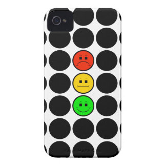 Moody Stoplight w Black Dots iPhone 4 Cover