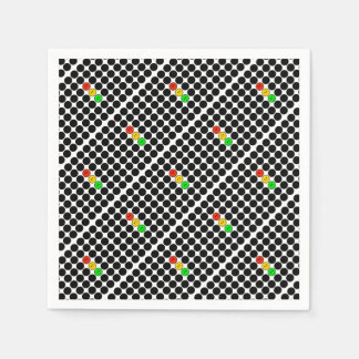 Moody Stoplight w Black Dots Paper Napkin