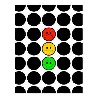 Moody Stoplight w Black Dots Postcard