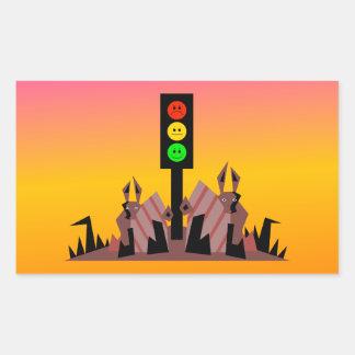 Moody Stoplight with Bunnies, Dreamy Background Sticker