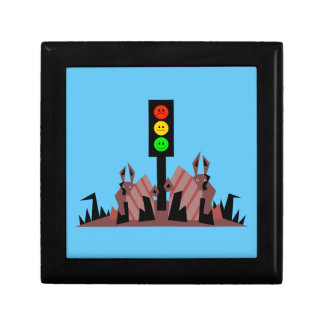 Moody Stoplight with Bunnies Gift Box