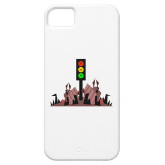 Moody Stoplight with Bunnies iPhone 5 Case