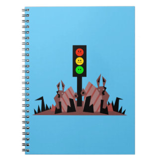 Moody Stoplight with Bunnies Notebook