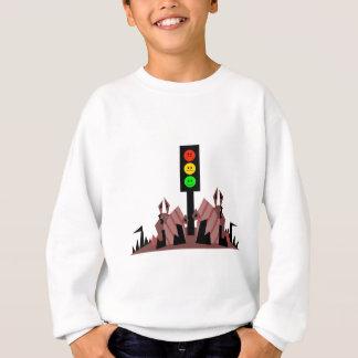 Moody Stoplight with Bunnies Sweatshirt