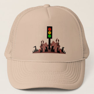 Moody Stoplight with Bunnies Trucker Hat